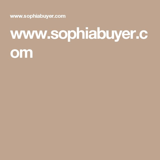 www.sophiabuyer.com