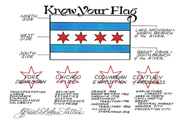 Have A Chicago Flag Tattoo? One Parlor Is Asking You To 'Know Your Flag' - West Town - DNAinfo.com Chicago