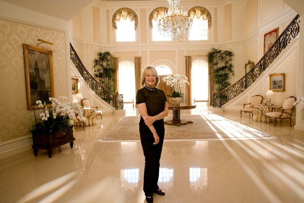 | Candy Spelling in 2008 in the mansion that she later sold.