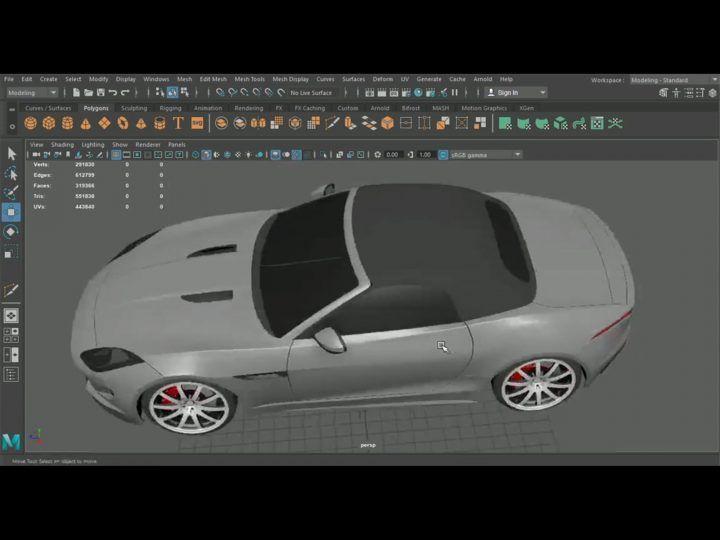 Maya 3d Car Modeling Tutorial Car Model Car Model