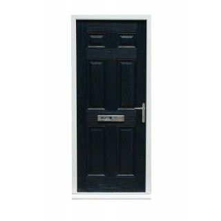 COLONIAL 6 PANEL TIMBER EFFECT COMPOSITE FRONT DOOR BLUE (2085MM X 920MM)