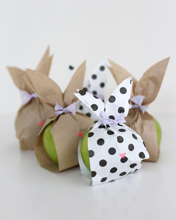 DIY Paper Bunny Fruit Bags Tutorial