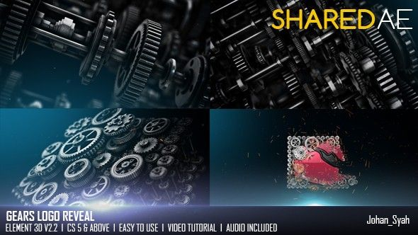 Gears Logo Reveal - Free After Effects Templates | VideoHive 20264214