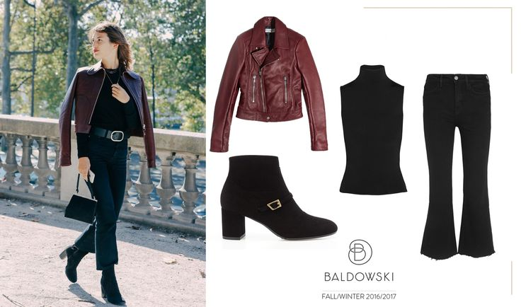Get inspired with Baldowski #fashion #fallwinter #baldowski #leatherjacket #jeannedamas #damas #parisian #parisianchic #style #paris #getthelook