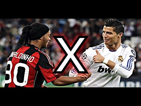 CR7 vs RONALDINHO ★ Um DUELO DE TITÃS! - YouTube