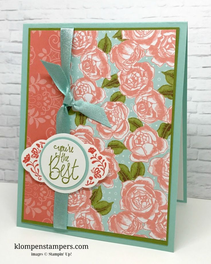 Card Making Ideas And Instructions Part - 18: Several Different Ideas Using The Petal Garden DSP From Stampinu0027 Up!  Cutting Instructions Posted · Mom CardsFriendship ...