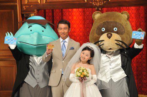 俳優・中井貴一がカッパとたぬきとトリオ出演し、コミカルな演技が人気を呼んだ『DCカード』CMシリーズが約4年半ぶりに復活し、新キャラクターに本田が起用された。