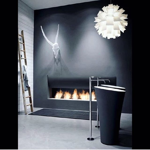 SIMPLY THE BEST - #Repost @antoniolupidesign ・・・ The magic atmosphere of #antoniolupi: #Tuba freestanding sink and #ilcantidelfuoco fireplace #antoniolupidesign #design #contemporarybathroom #relax #bathroom #lifestyle #domenicodepalo #interiordesign #mad