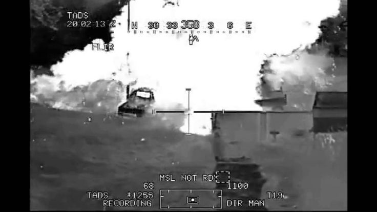 AH-64 Apache Attack ISIS With Hellfire and 30mm Gun in Syria | Gun Camera
