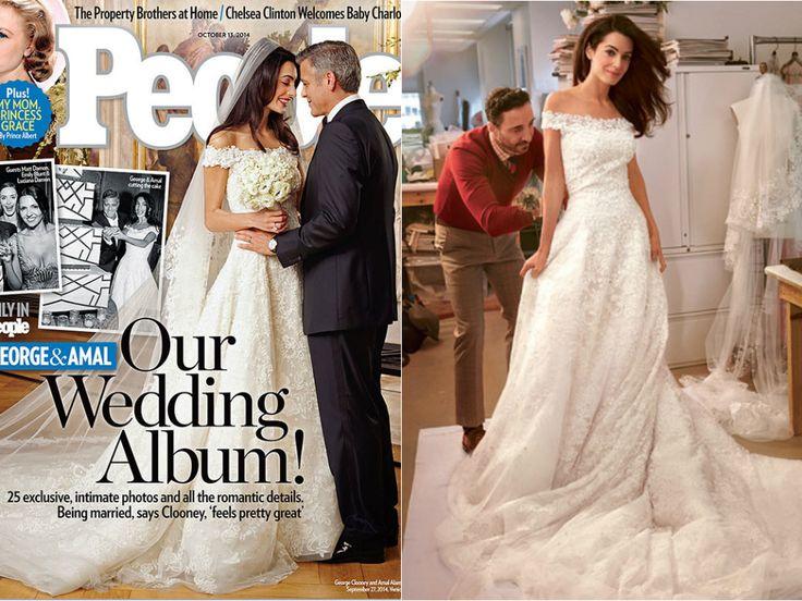 Sofisticado e chique, como a noiva. O vestido assinado por Oscar de La Renta para Amal Alamuddin é riqueza pura: confeccionado em renda francesa, bordado a mão com pérolas e diamantes. A advogada se casou com o ator George Clooney em Veneza, na Itália, em uma sequência de cerimônias que custou US$ 13 milhões.