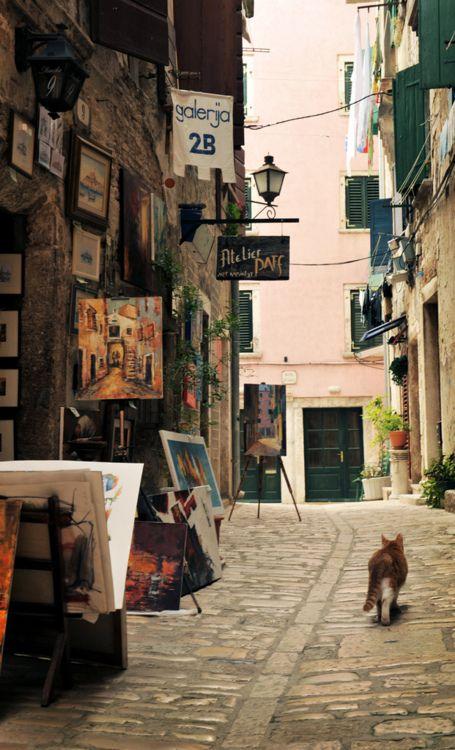 bluepueblo: Artists Walk, Rovinj, Croatia photo via laeitf