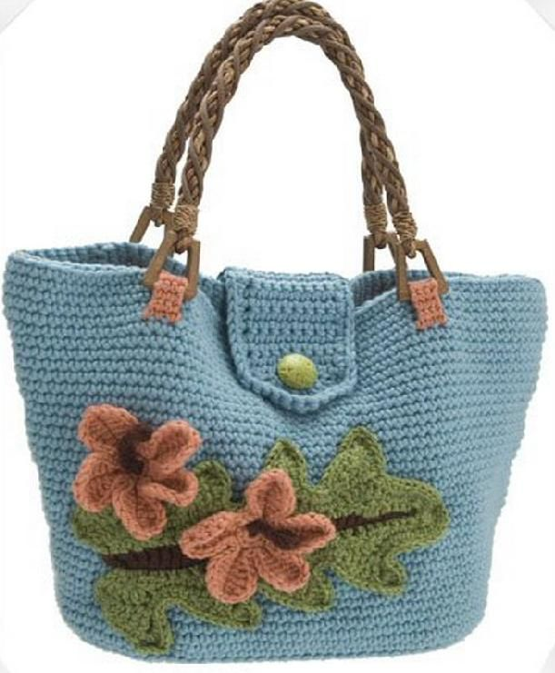 Hand-knitted bag samples (
