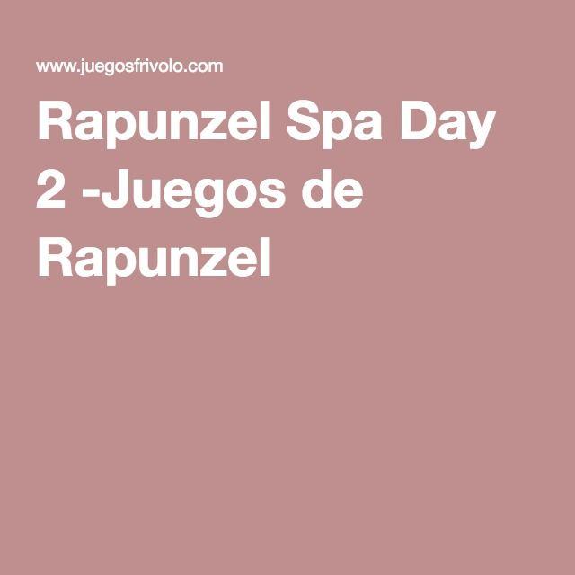 Rapunzel Spa Day 2 -Juegos de Rapunzel