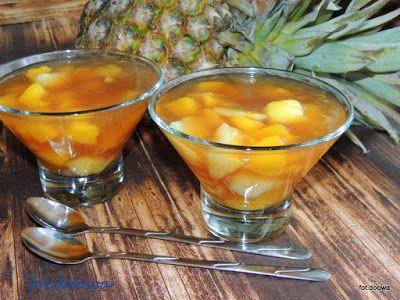 Moje Małe Czarowanie: Kokosowy kisiel z ananasa i mango