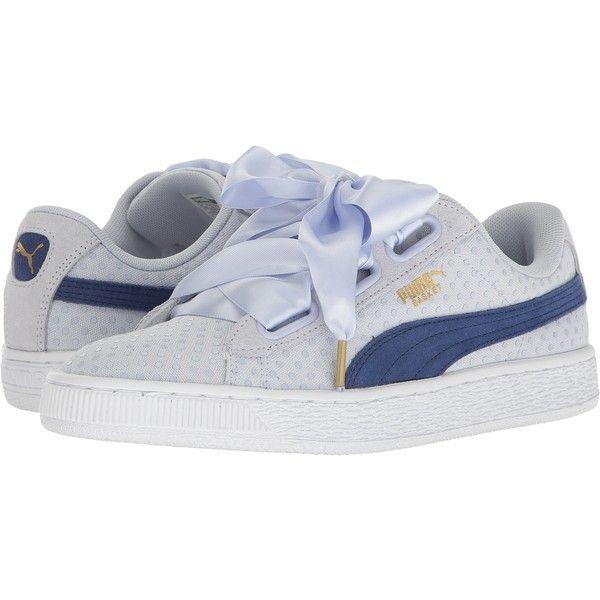 PUMA Basket Heart Denim (Halogen Blue/Twlight Blue) Women's Shoes (61 CAD