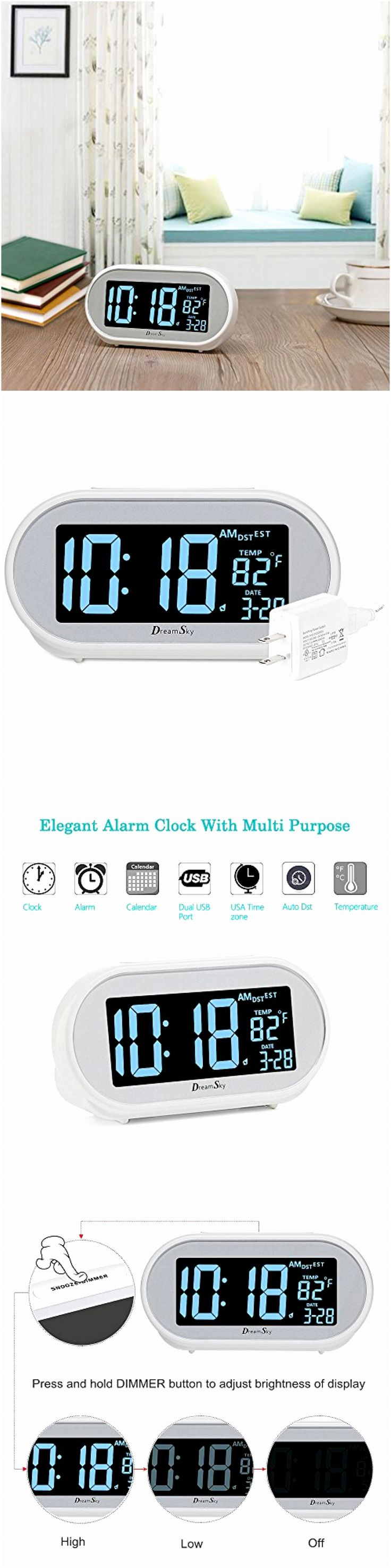 Digital Clocks and Clock Radios: Amazing Home Decorative Accessory - Auto Time Set Alarm Clock W Snooze And Dimmer -> BUY IT NOW ONLY: $36.04 on eBay!