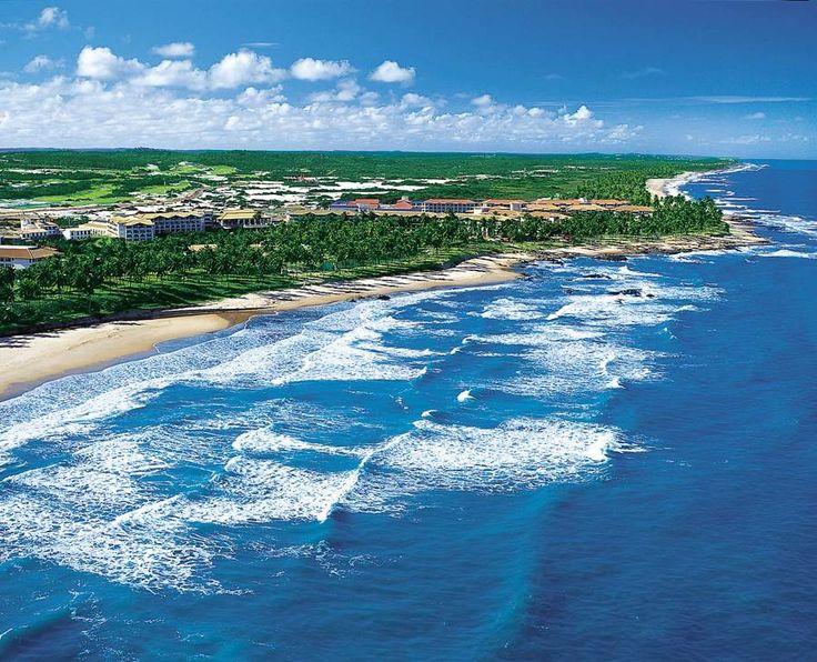 Costa do Sauípe costa, Bahia, Brasil.