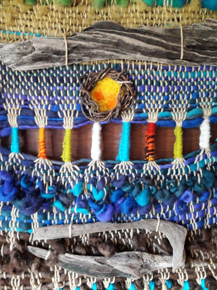 Tapiz  Decorativo a Telar. Looms. ENTRE FUEGO Y CREACIÓN