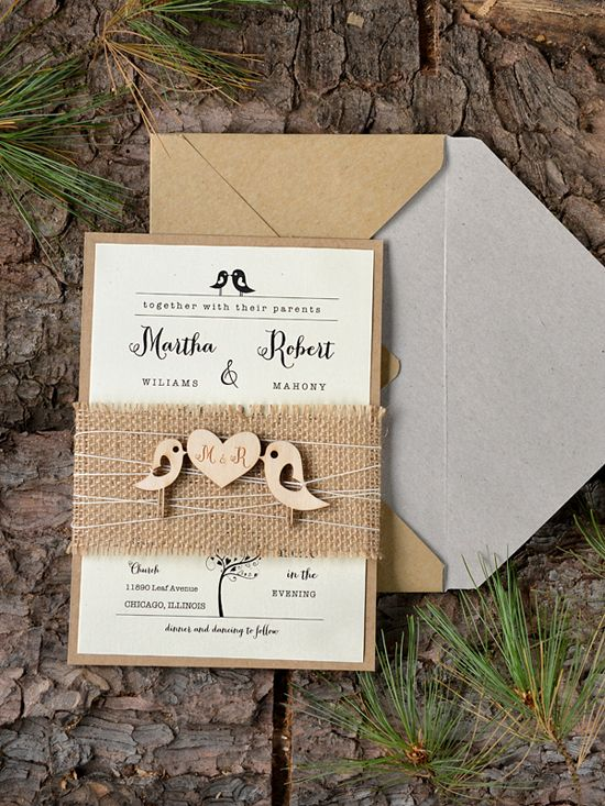 Rustic wedding invites from @4LOVEPolkaDots