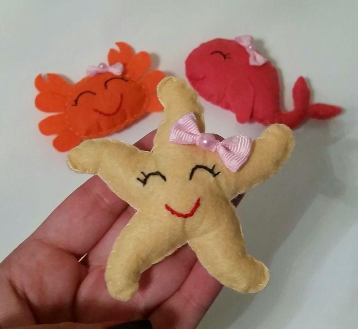Keçe Bebek Şekeri Deniz Yıldızı / Felt Starfish