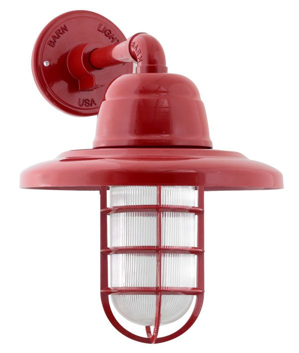 Atomic Industrial Guard Sconce 400 Barn Red Cgg Standard Cast