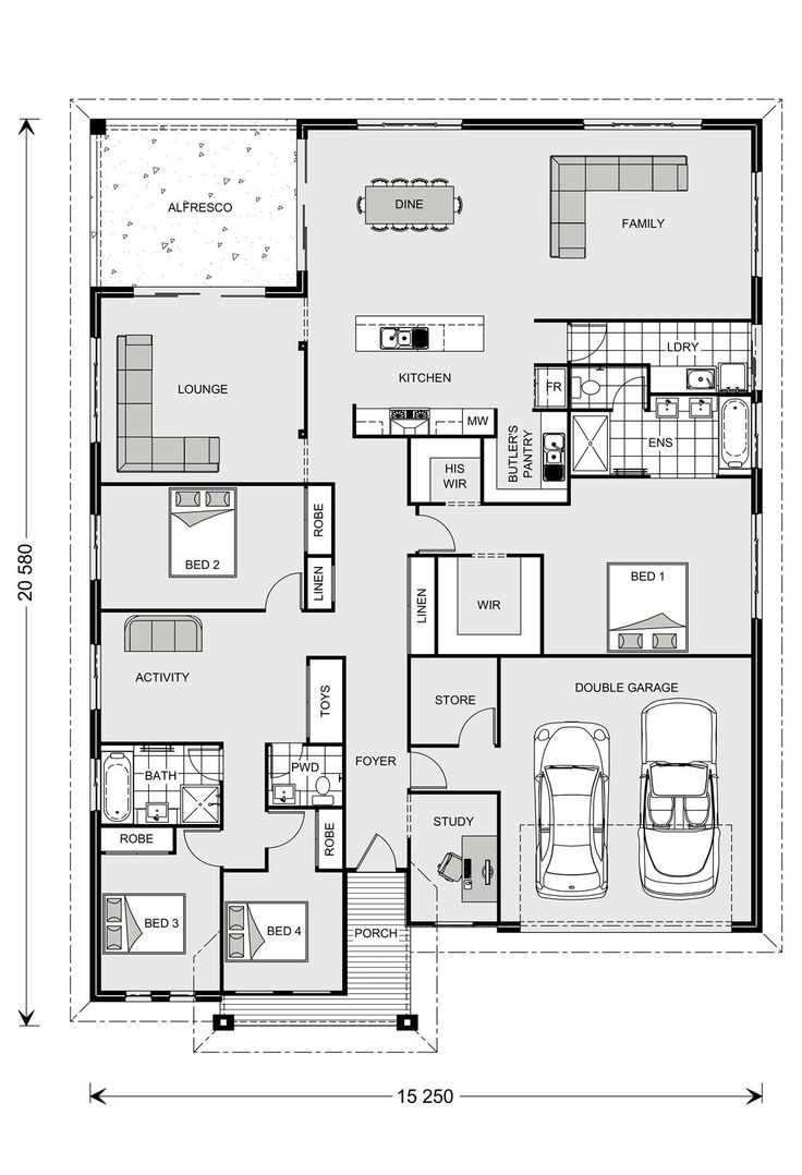 Casuarina 295 our designs new south wales builder gj for Home builder plans