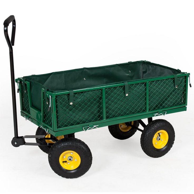 TecTake Chariot de transport jardin remorque à main Charrette à bras Chariot a bras 350kg voiturette voiture