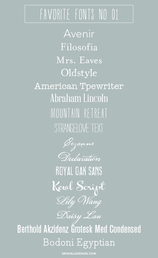 Favorite Fonts No. 01