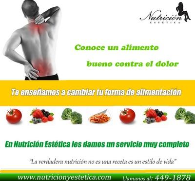 Conoce un alimento bueno contra el dolor. NUTRICIÓN ESTÉTICA    http://nutricionylaestetica.blogspot.com/2012/07/conoce-un-alimento-bueno-contra-el_02.html?spref=tw