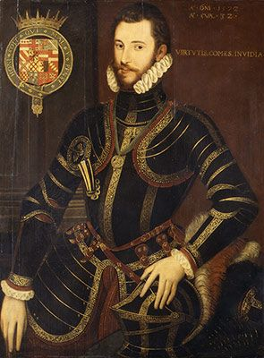 Portrait of Walter Devereux, First Earl of Essex by unknown artist around 1572 A.D.
