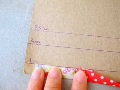 Cardboard Hem Pressing Guide: marking hems and ironing are my least favorite parts of sewing... this would help! I need to do this!