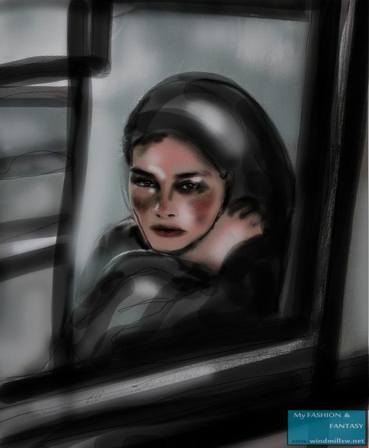 """Tyttö ikkunassa"" / Girl below the window"
