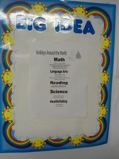 incorporating IEPs and the Unique Learniny System: the Big Idea board (from a Busy Bee)