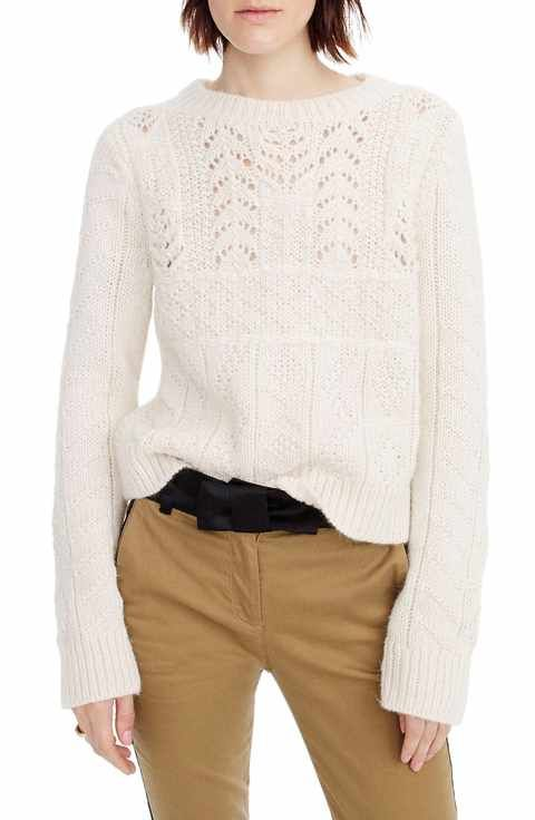 e56e36b35ad892 J.Crew New England Mock Neck Wool Tunic Sweater | J.Crew | Cable ...