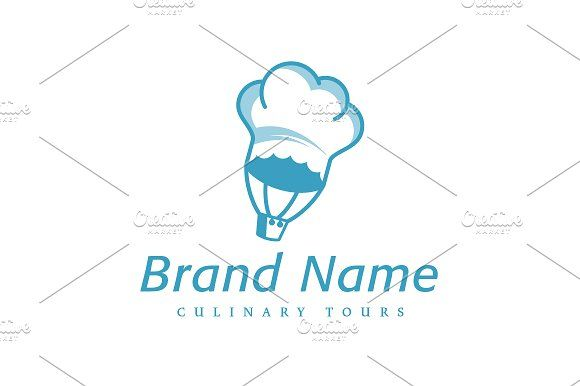 For sale. Only $29 - travel, chef, hat, cooking, hot, air, balloon, sky, adventure, tour, vacation, culinary, flight, flying, kitchen, blue, memorable, modern, stylized, fun, simple, cook, restaurant, bistro, food, event, logo, design, template,