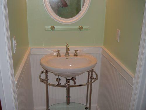 Jacuzzi Pedestal Sink Half Bath Remodel