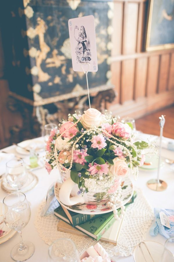pretty wedding flowers tea cup http://www.andreaellisonphotography.com/