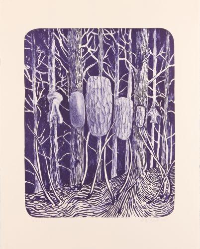 Morten Schelde – Untitled (Skov Stenalder). Litografisk tryk, 71 x 57 cm. Oplag: 24. Pris: 3.500 kr.