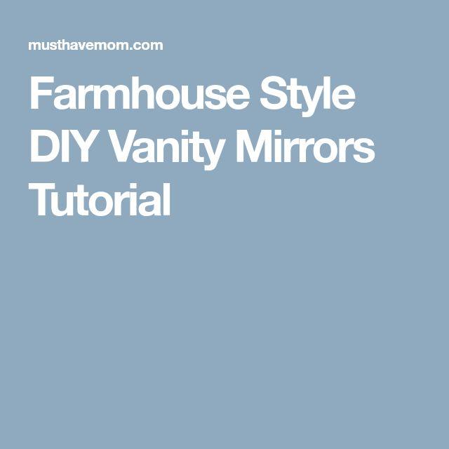Quick Diy Dollar Tree Bathroom Decor 2 For 5 Youtube: Best 25+ Diy Vanity Mirror Ideas On Pinterest