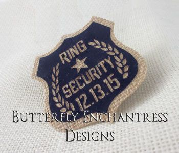 Hey, I found this really awesome Etsy listing at https://www.etsy.com/listing/11954832/rustic-wedding-ring-security-badge-pin