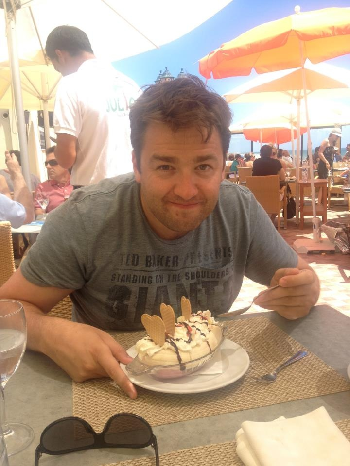 Jason Manford.  Funny + Mancunian + stubble = attractive!