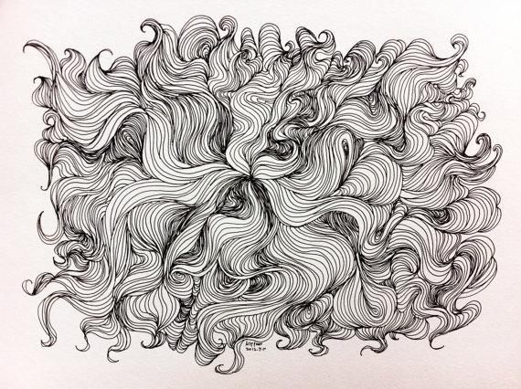 original drawing -  abstract line drawing
