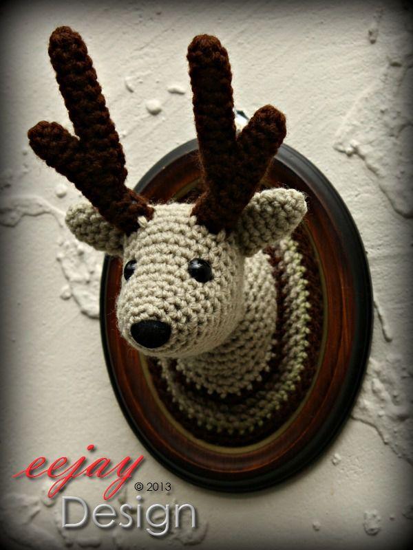 Reindeer Amigurumi Wall Animal   Felt