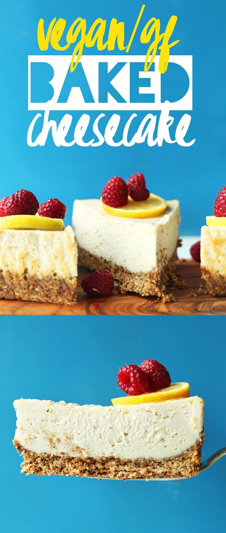 "The closest thing to ""real"" cheesecake I've ever tasted! #vegan #glutenfree"