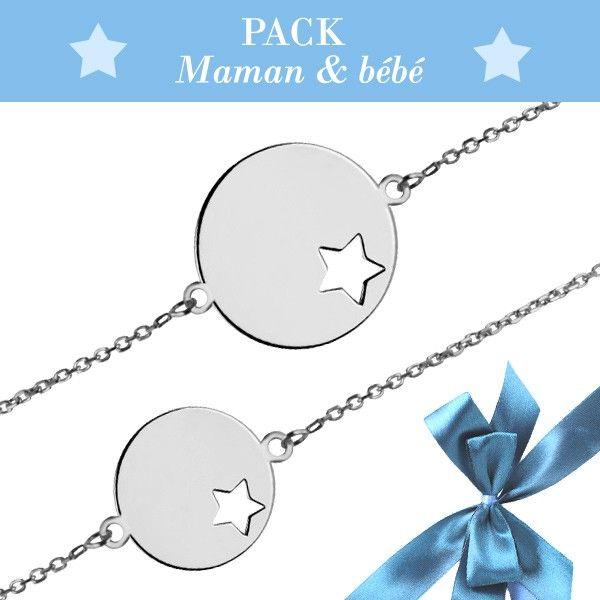 Bracelet identité médaille étoile Or 375°°° - GM - Ado/Adulte   BRACELET MAMAN & CADEAU DE NAISSANCE   BIJOUX BEBE