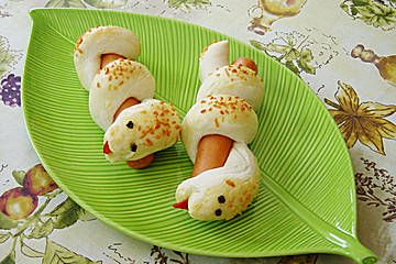Hotdog-Schlangen