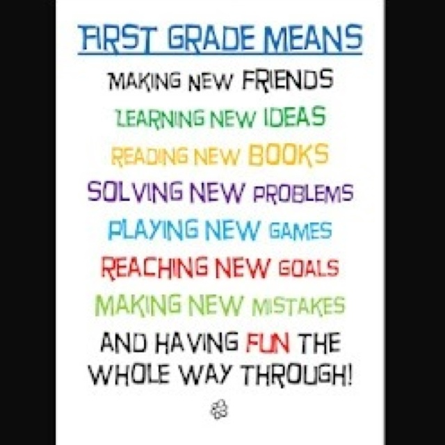 Quotes About 1st Grade. QuotesGram