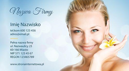 Projekt wizytówki dla Salonów Kosmetycznych/ SPA