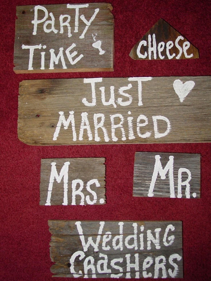 6 Rustic Wedding Photo booth Props sign by primitivearts on Etsy, $29.00