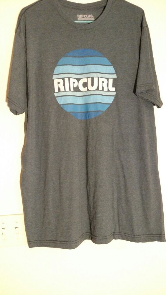 Rip Curl tshirt Mens XL blue surf skate wear Austrailian 1969 #RIPCURL #tshirt